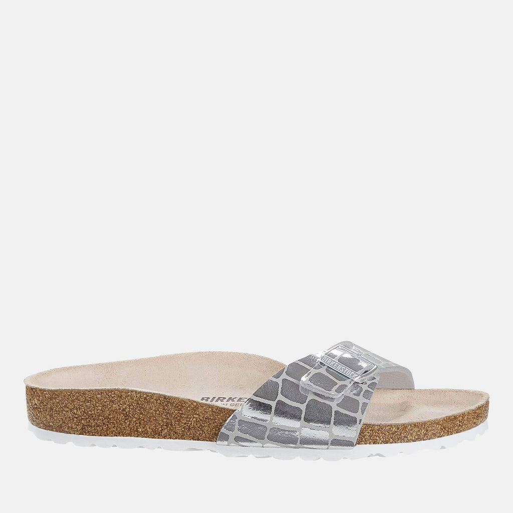 Birkenstock Footwear Madrid Regular Fit Gator Gleam Silver 1016244