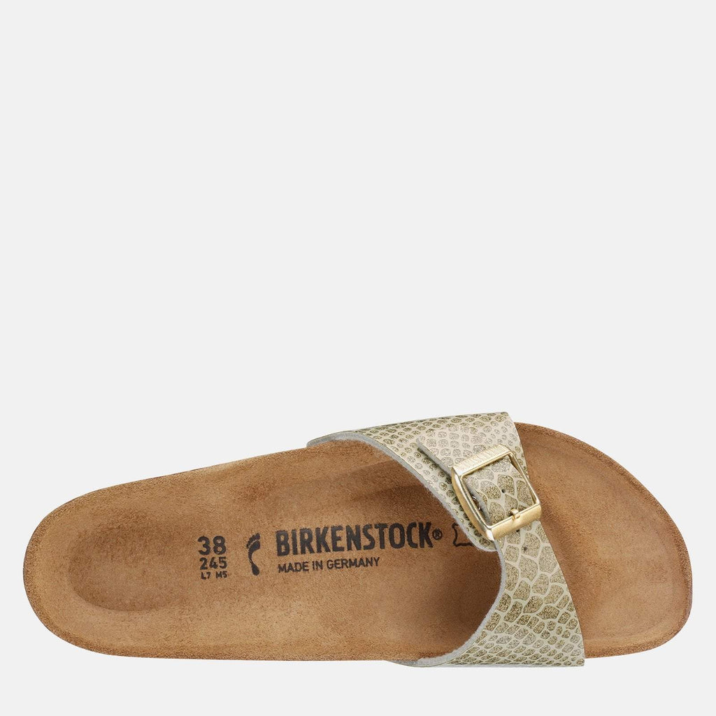 Birkenstock Footwear UK 3.5 / EU 36/ US 5-5.5 / Gold Madrid Regular Fit Magic Snake Gold 1011754 - Birkenstock Ladies Gold Slip-On Summer Sandals