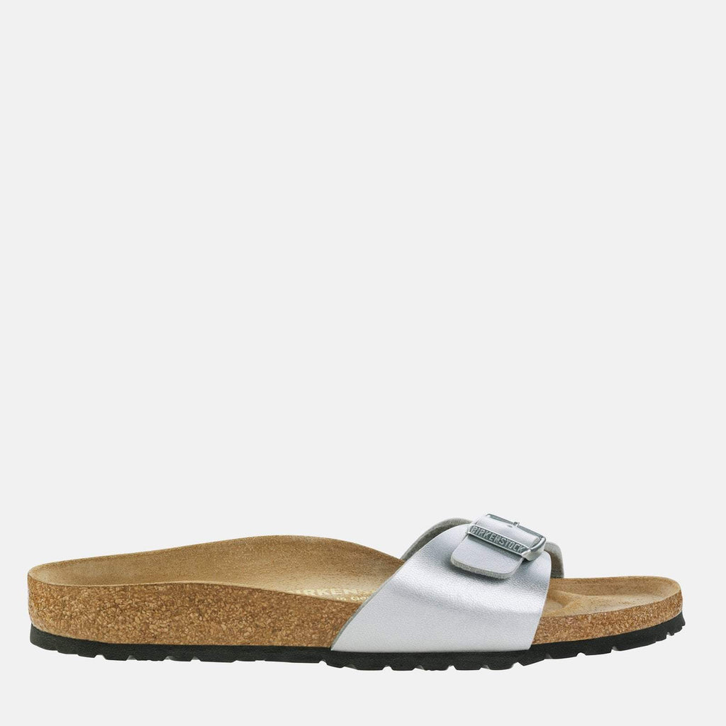 Birkenstock Footwear UK 3.5 / EU 36/ US 5-5.5 / Silver Madrid  Regular Fit Silver 040411 -  Birkenstock Ladies Silver Slip-On Summer Sandals