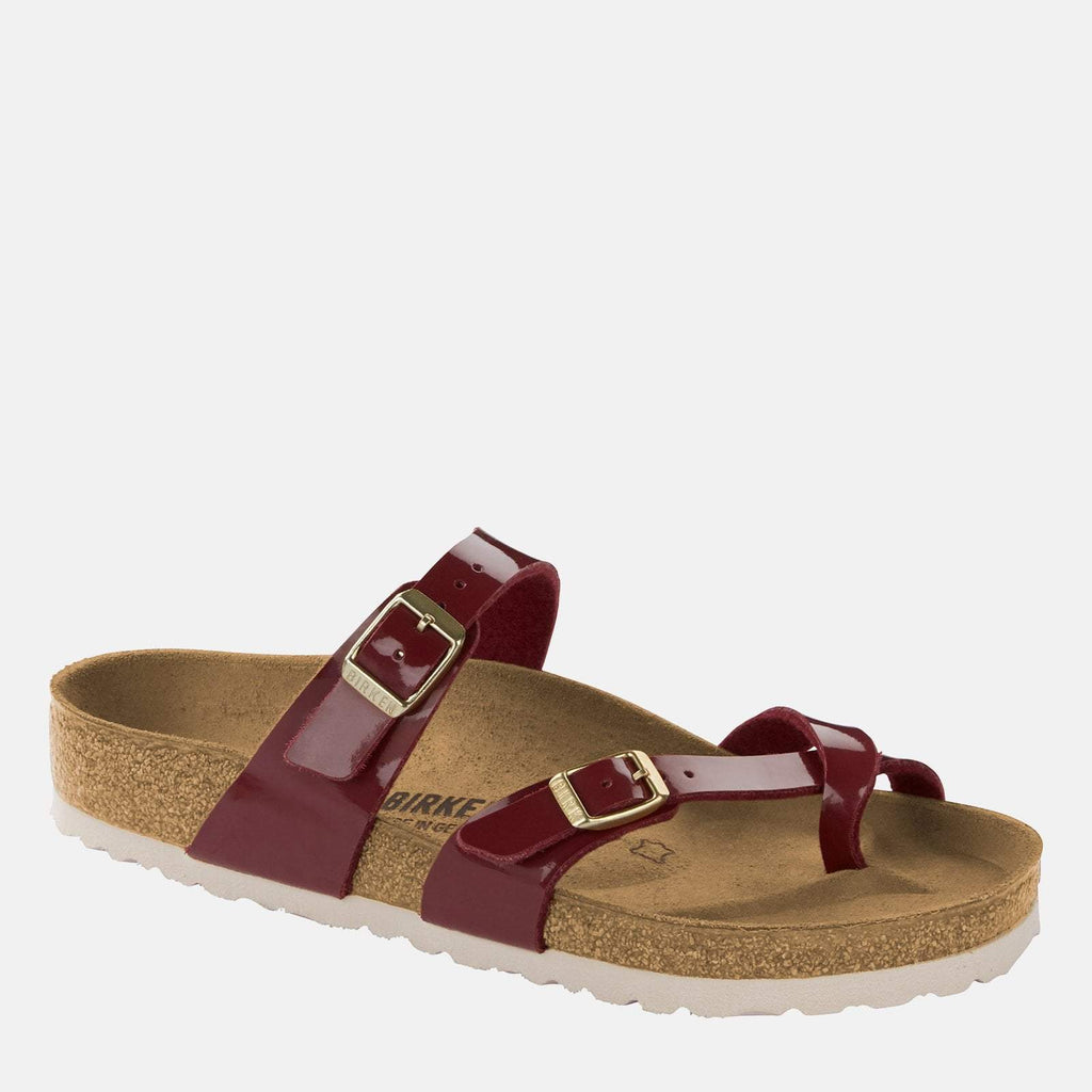 Birkenstock Footwear UK 3.5 / EU 36/ US 5-5.5 / Red Mayari Regular Fit Bordeaux 1013085 - Birkenstock Mayari Red Loop Summer Sandals
