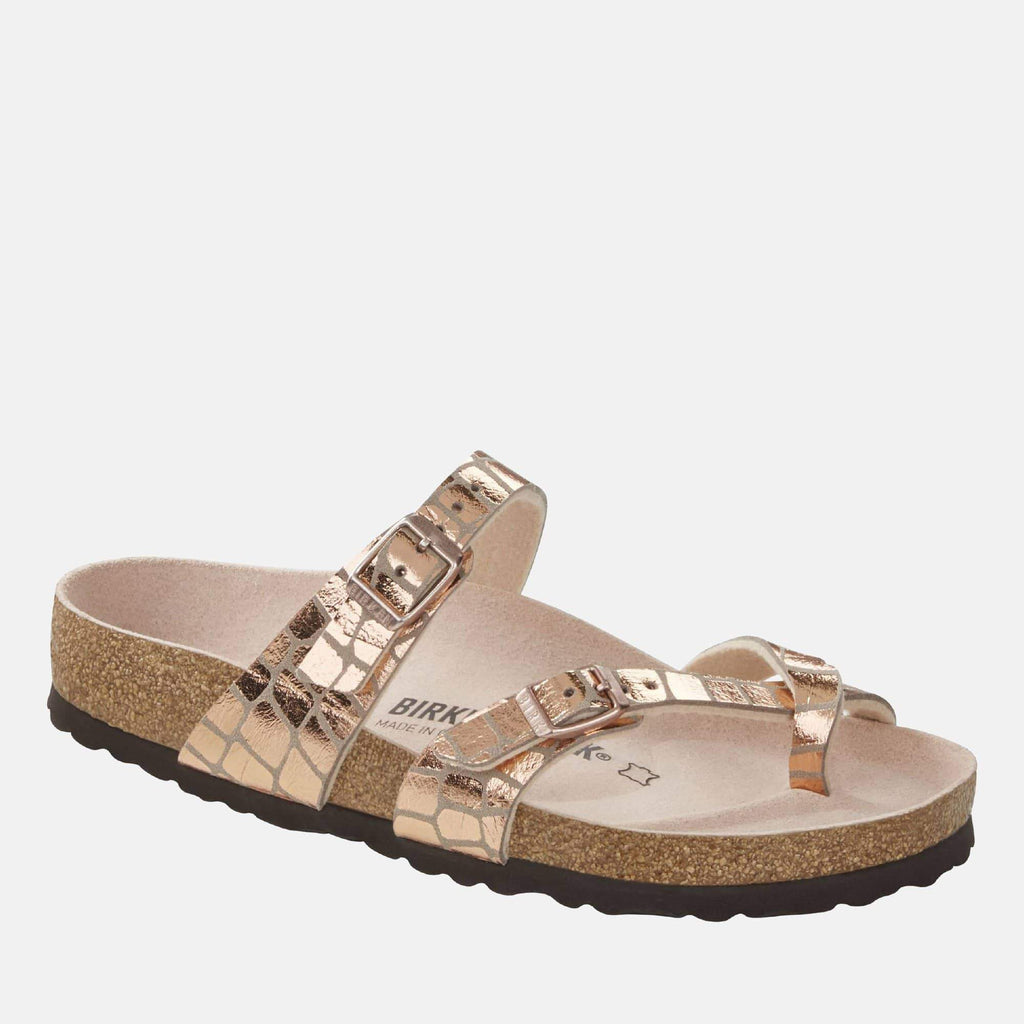 Birkenstock Footwear Mayari Regular Fit Gator Gleam Copper 1016042