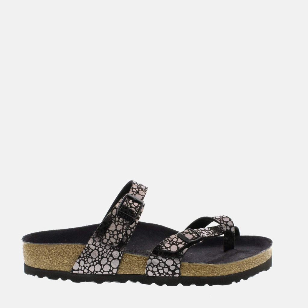Birkenstock Footwear UK 3.5 / EU 36/ US 5-5.5 / Black Mayari Regular Fit Metallic Stones Black 1008809 - Birkenstock Mayari Black Loop Summer Sandals