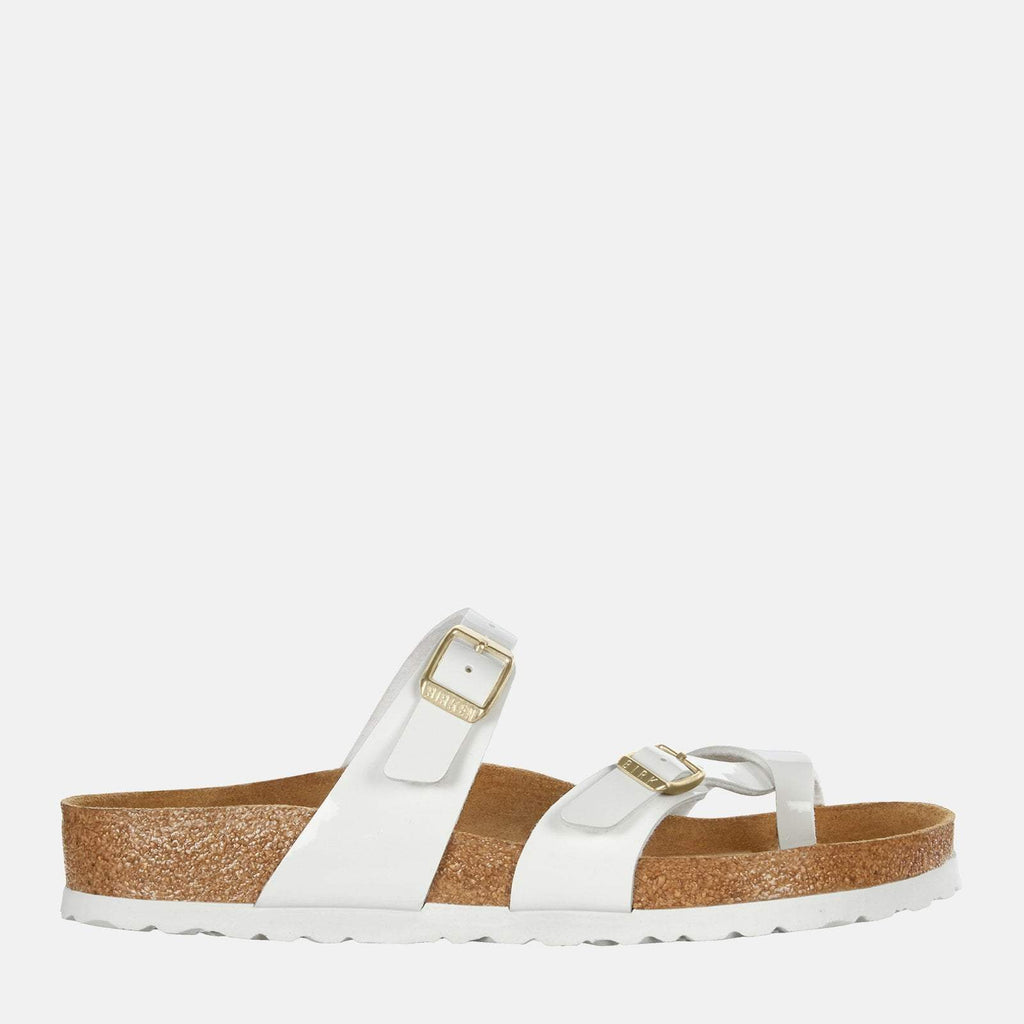 Birkenstock Footwear UK 3.5 / EU 36/ US 5-5.5 / White Mayari Regular Fit Patent White 1005280 - Birkenstock Mayari Patent White Toe Loop Summer Sandals