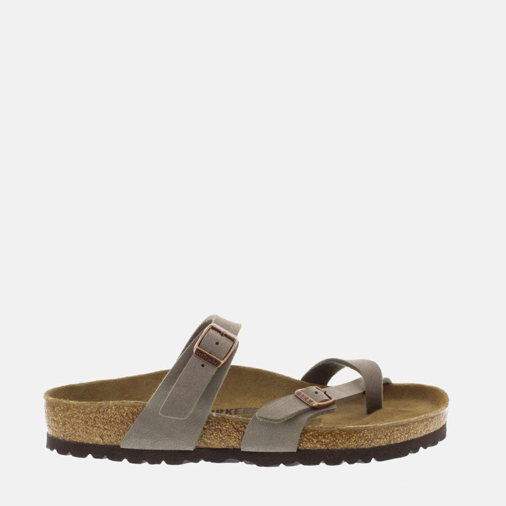 Birkenstock Footwear UK 3.5 / EU 36/ US 5-5.5 / Grey Mayari Regular Fit Stone 071071 - Birkenstock Mayari Stone/Grey Toe Loop Summer Sandals