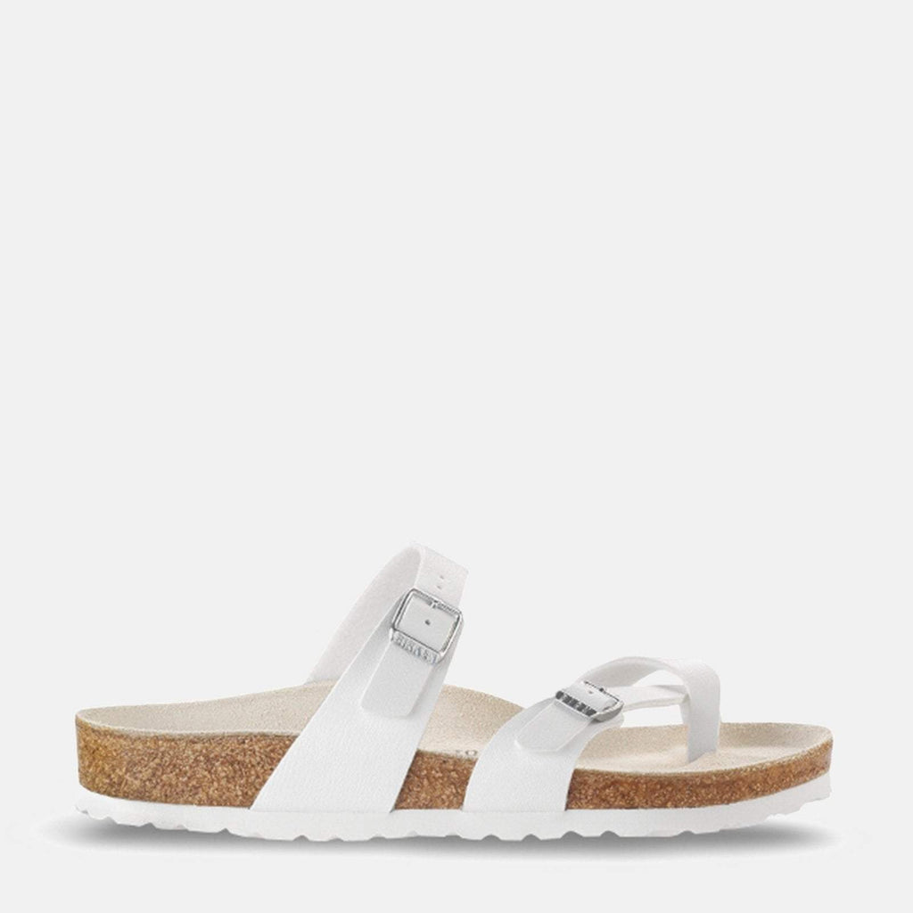 Birkenstock Footwear UK 3.5 / EU 36/ US 5-5.5 / White Mayari Regular Fit White 071051 -  Birkenstock Mayari White Toe Loop Summer Sandals