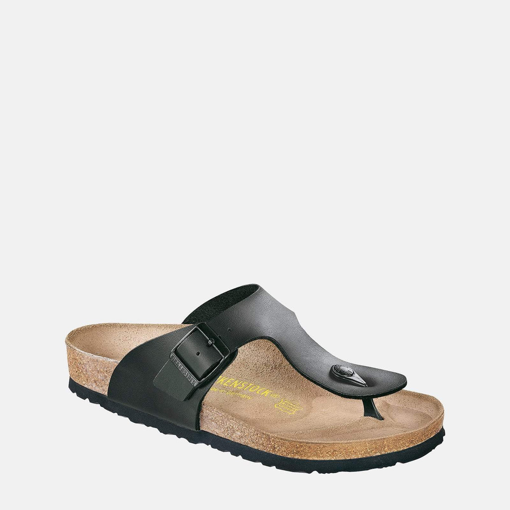 Birkenstock Footwear UK 7.5 / EU 41/ US 8-8.5 / Black Ramses Regular Fit Black 044791 -  Birkenstock Men's Ramses Black Adjustable Buckle Summer Sandals