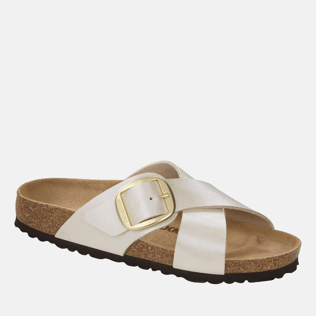 Birkenstock Footwear Siena Big Buckle Regular Fit Graceful Pearl White 1016098
