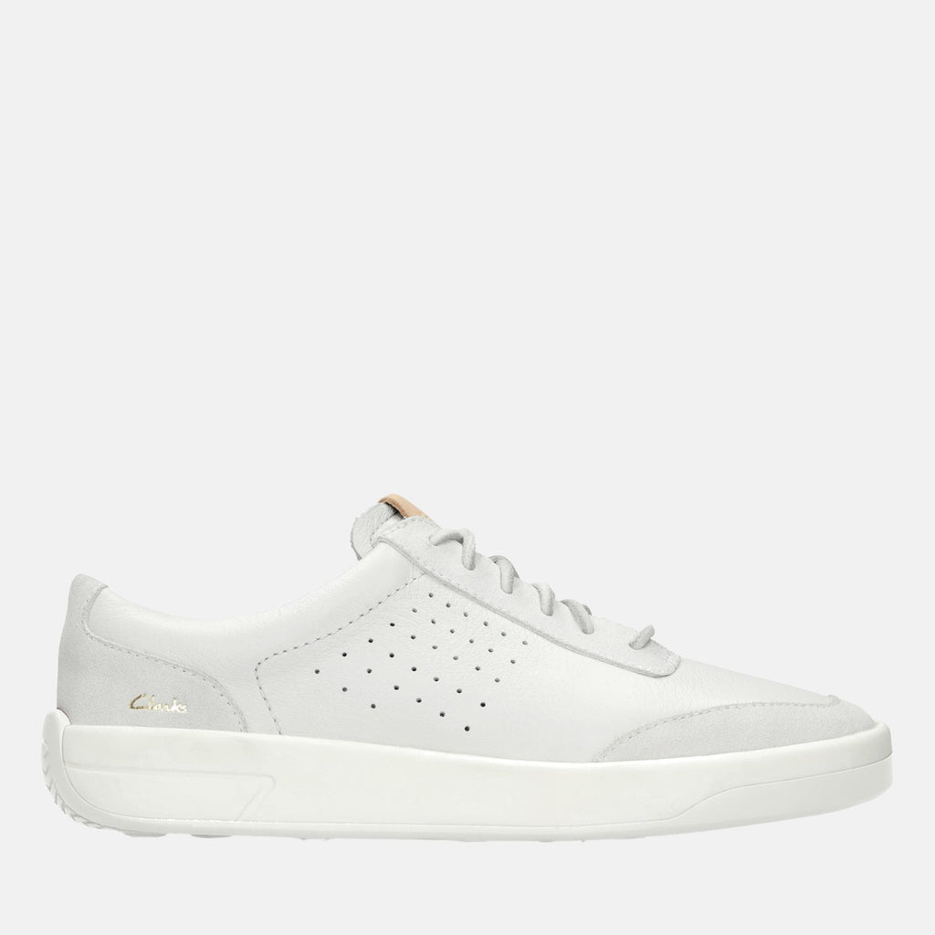 Clarks Footwear Hero Air Lace 26152890 White Leather