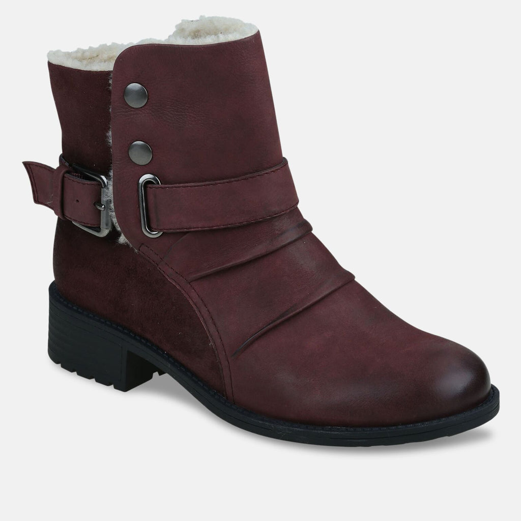 Ladies Clarksville Merlot Ankle Boot
