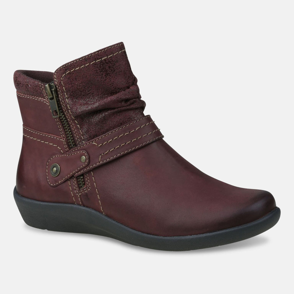 Earth Spirit Footwear UK 2 / EU 35 / US 4 / Merlot Ladies Houston Merlot Ankle Boot