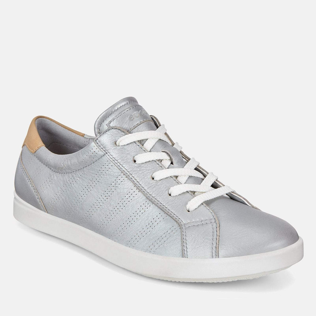 Ecco Footwear UK 3.5 / EU 36 / US 5-5.5 / Silver Leisure 205033 51322 Metallic Concrete - Ecco Metallic Silver Soft Leather Ladies Trainers