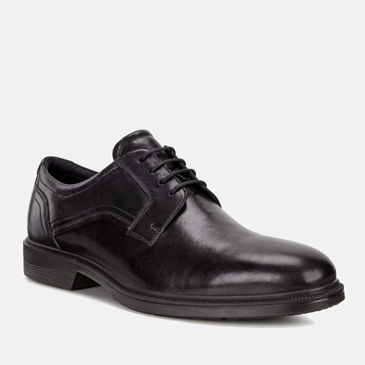 ca8d667193fa3 Lisbon 622104 01001 Black- Ecco Men's Derby Formal Lace Up Black ...