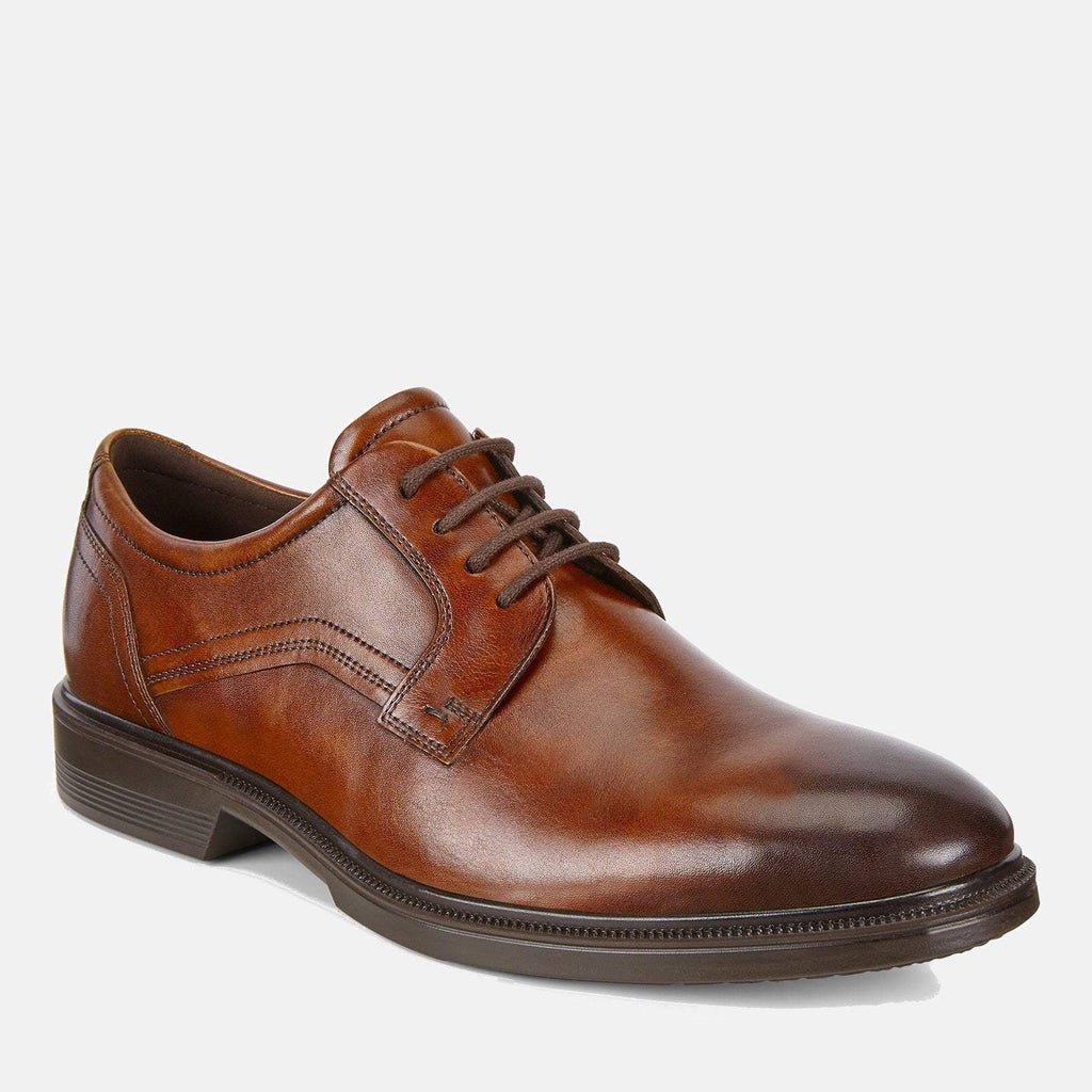 Ecco Footwear UK 7.5 / EU 41 / US 7-7.5 / Brown Lisbon 622104 11053 Cognac - Ecco Men's Derby Formal Lace Up Brown Tan Leather Shoes