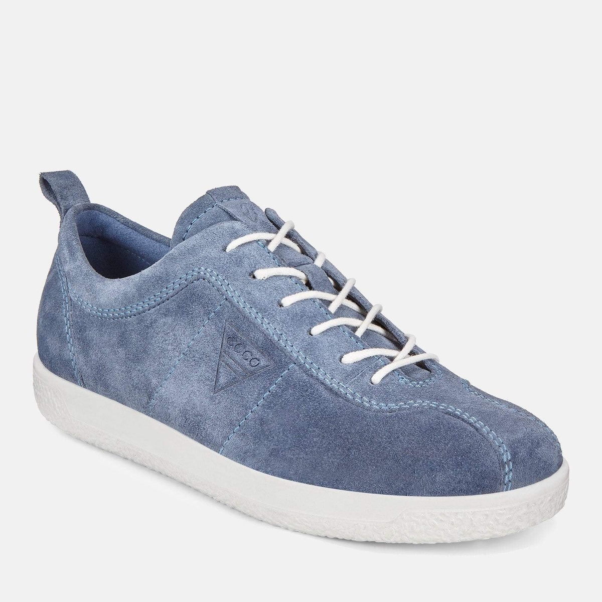 cdb871e8338 Soft 1 W 400503 05471 Retro Blue - Ecco Blue Soft Leather Ladies Trainers