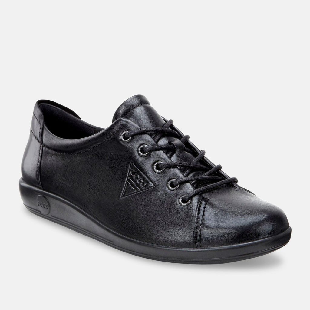 Ecco Footwear UK 3.5 / EU 36 / US 5-5.5 / Black Soft 2.0 206503-56723 Black Feather with Black Sole