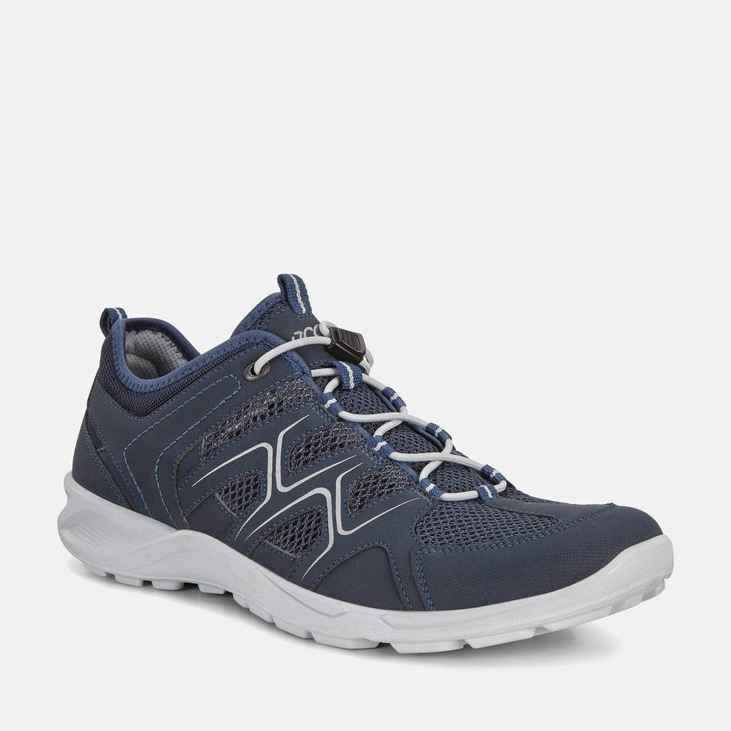 Ecco Footwear UK 6.5-7 / EU 40 / US 6-6.5 / Navy Terracruise LT 825774 51406 Marine/Marine/Concrete - Ecco Mens Navy Blue Sports Trainers