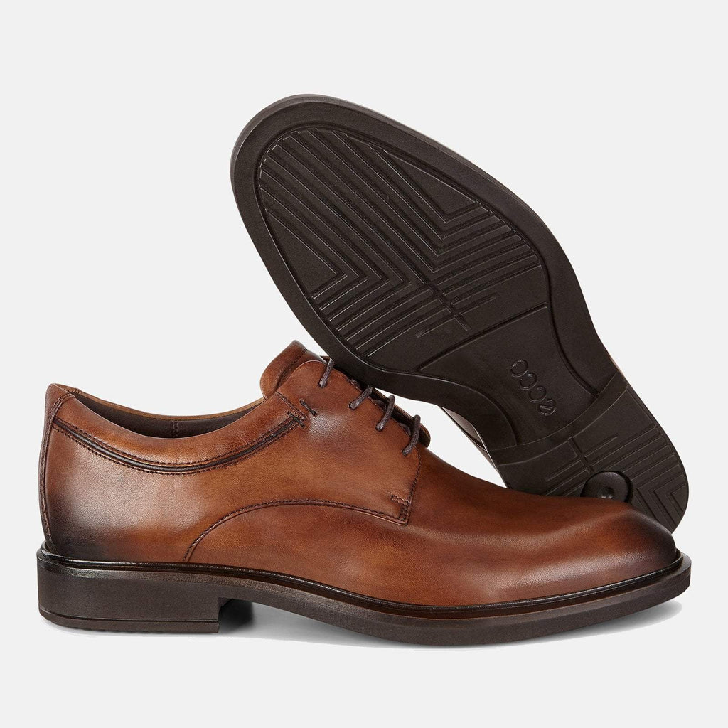 Ecco Footwear UK 7.5 / EU 41 / US 7-7.5 / Brown Vitrus III 640524 01112 Amber - Ecco Men's Brogue/Derby Formal Lace Up Tan Leather Shoes