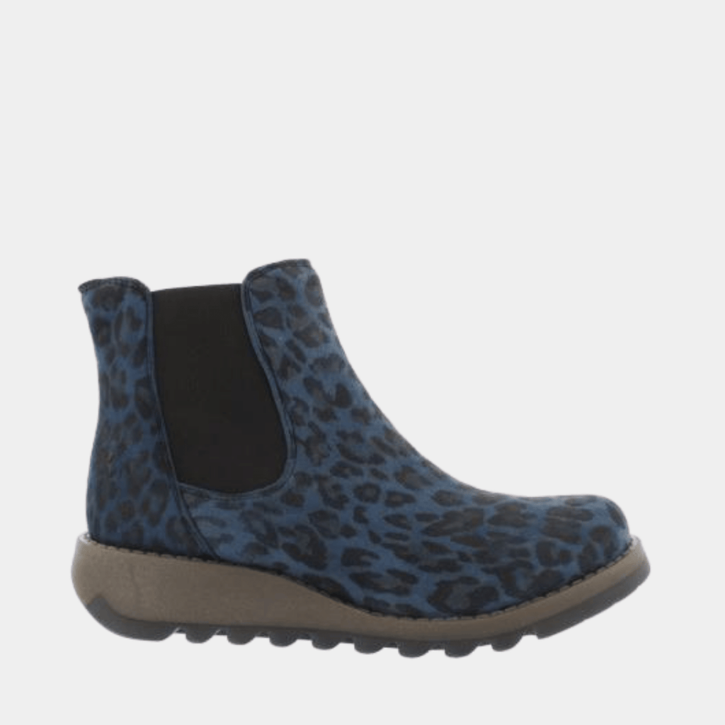 Fly London Footwear Salv Navy Cheetah P143195042