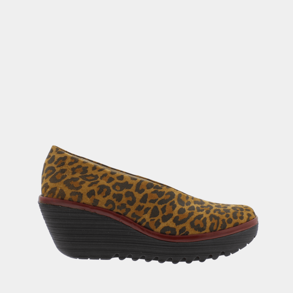 Fly London Footwear Yaz Tan Cheetah P500025247