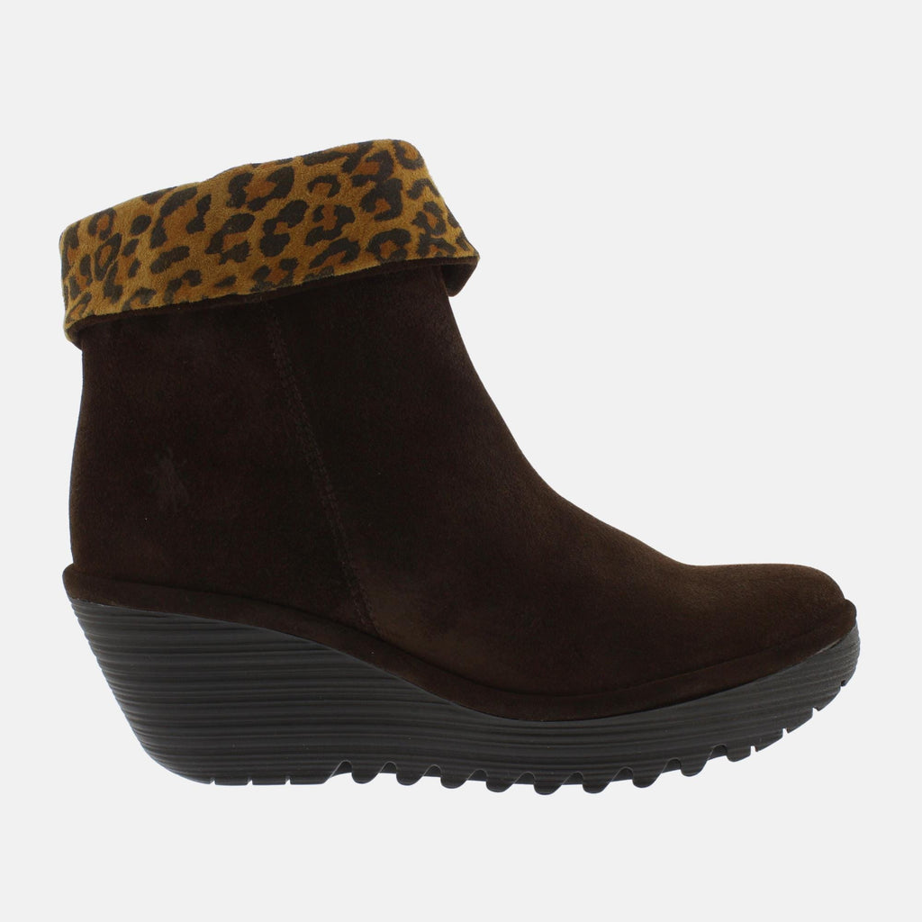 Fly London Footwear Yety 2 Brown Oil Suede Cheetah P501248009