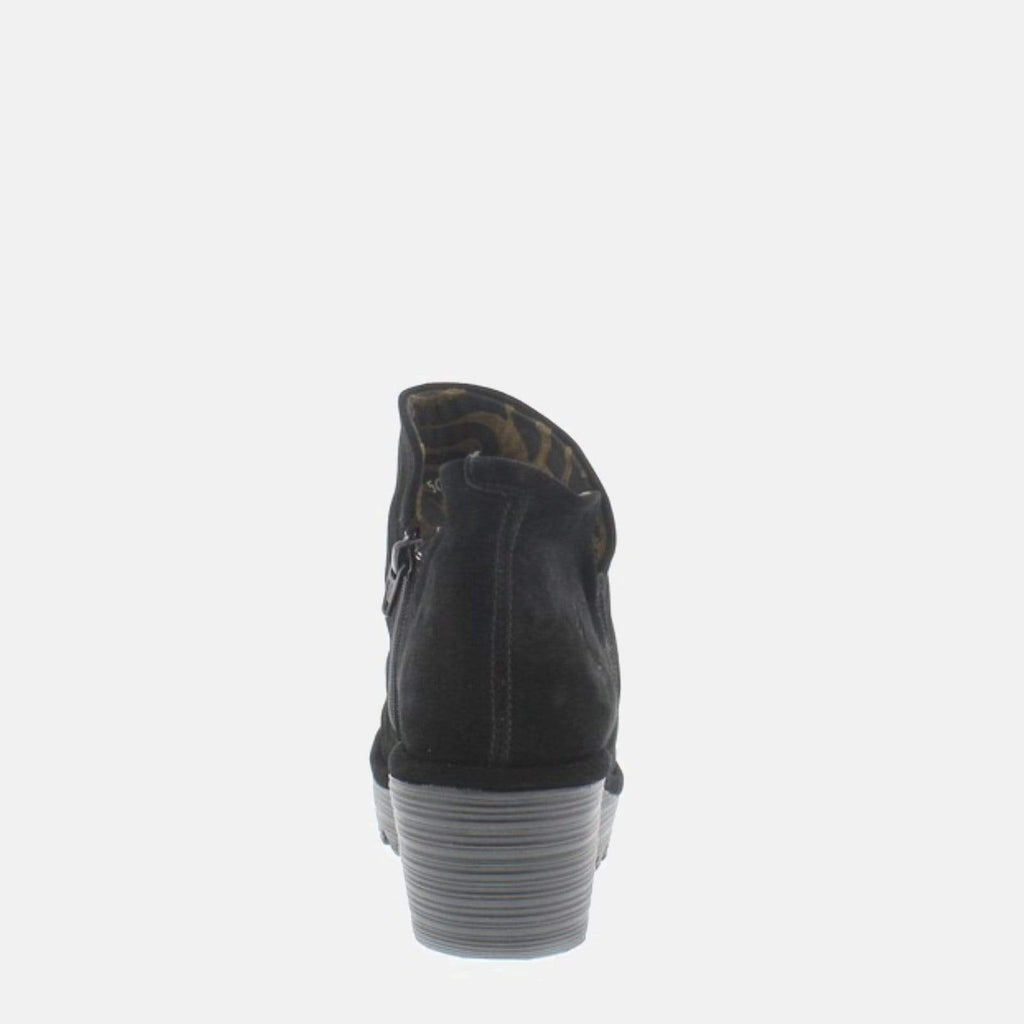 Fly London Footwear Yip Black Oil Suede