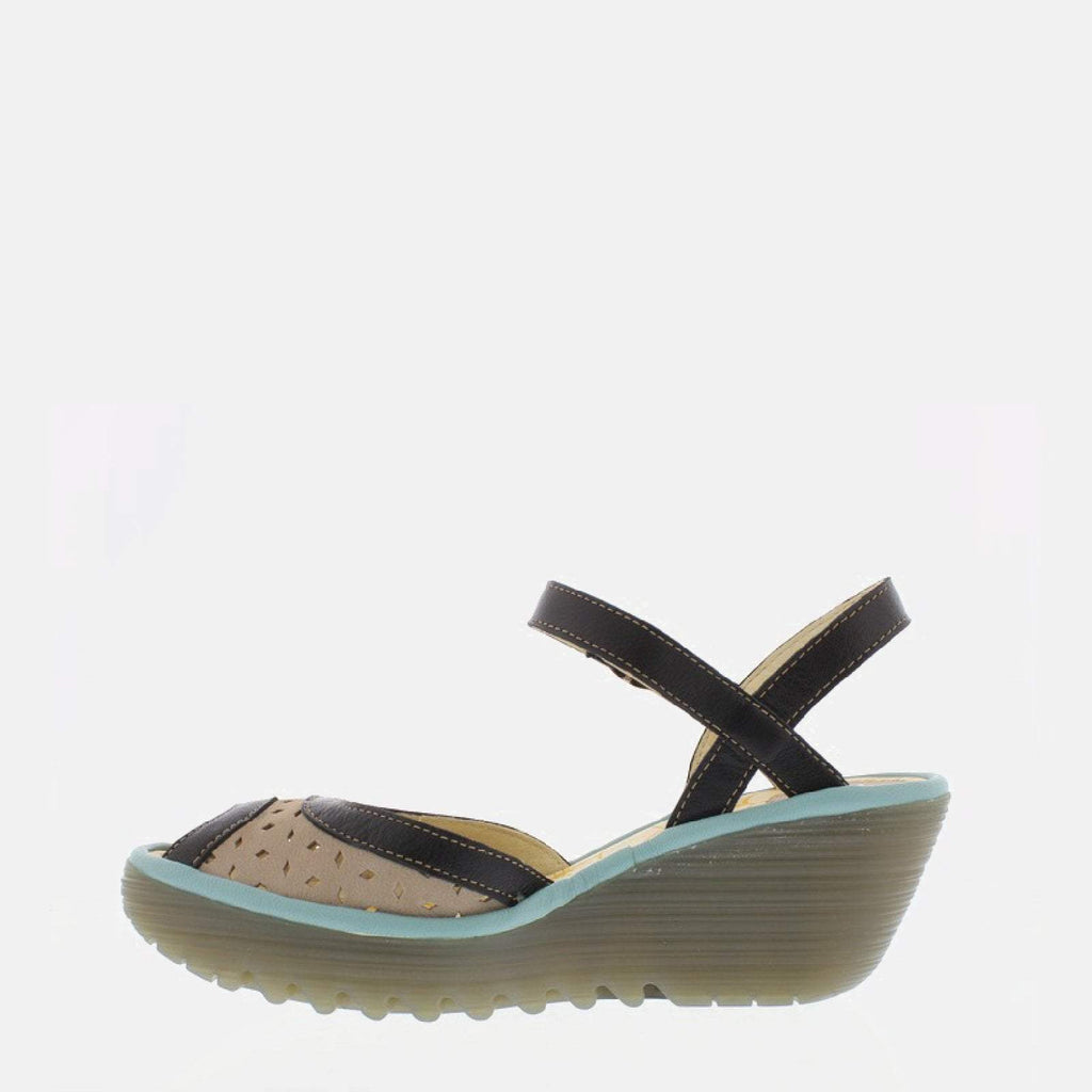 Fly London Footwear UK 3 / EU 36 / US 5.5-6 / Black Yumo Concrete Black Pale Blue Cupido Mousse