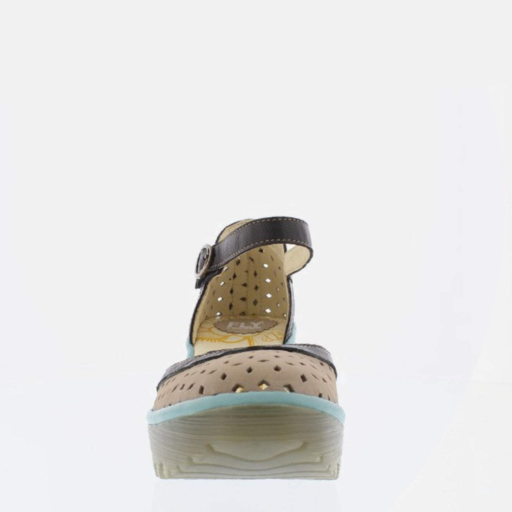 Fly London Footwear UK 3 / EU 36 / US 5.5-6 / Black Yven Concrete/Black/Pale Blue Cupido/Mousse