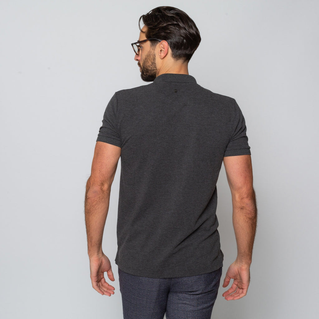 Goodwin Smith Clothing S / Charcoal / Cotton Pique HEWITT CHARCOAL