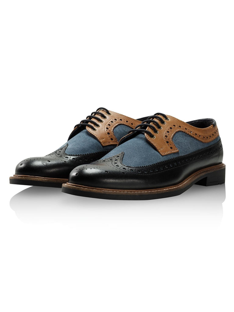 Goodwin Smith Footwear UK 6 / EU 39 / US 7 / Blue / Leather Ashworth Black, Blue & Stone