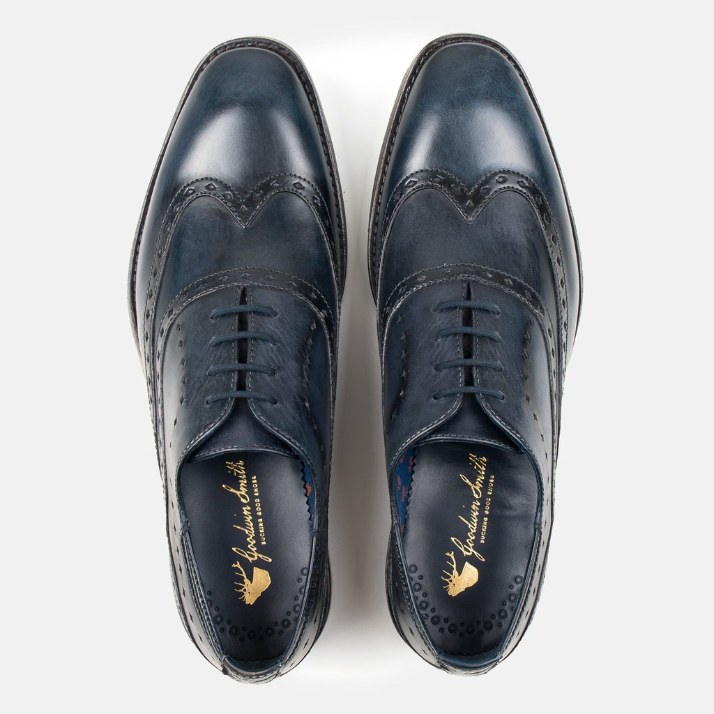Goodwin Smith Footwear UK 6 / EU 39 / US 7 / Navy / Leather BOWLAND NAVY