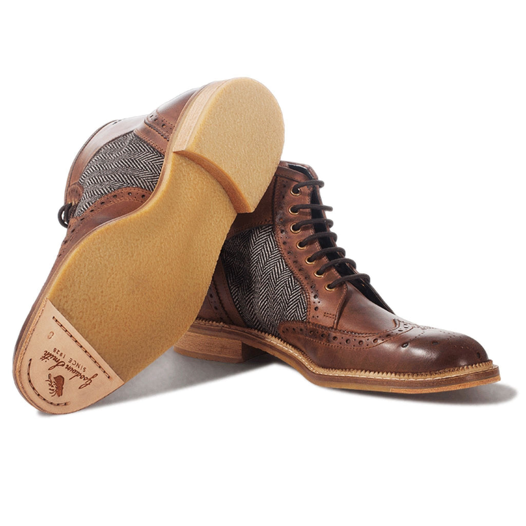 Goodwin Smith Footwear UK 6 / EU 39 / US 7 / Brown / Leather Cowpe Brown - Lace up Leather Boots