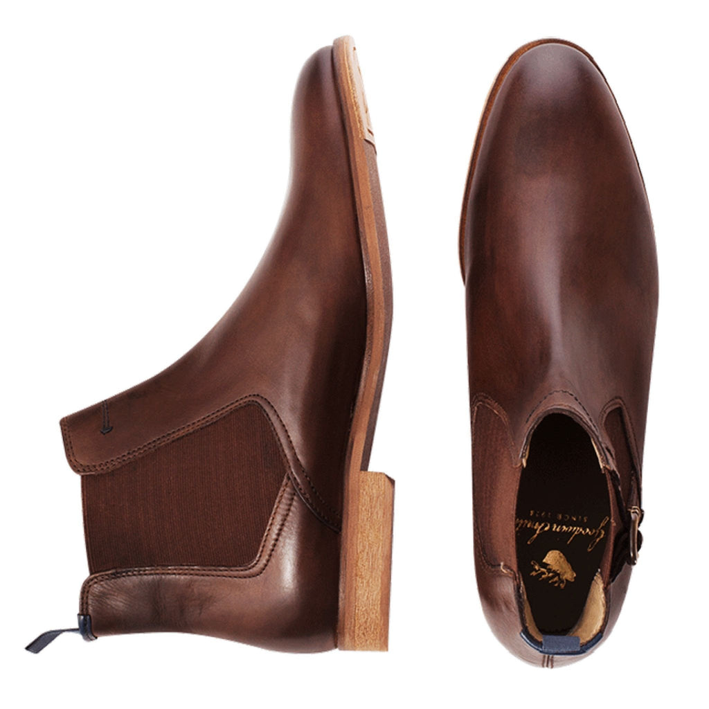 Goodwin Smith Footwear UK 7 / EU 40-41 / US 8 / Brown / Leather Hargreaves Brown Chelsea Boot