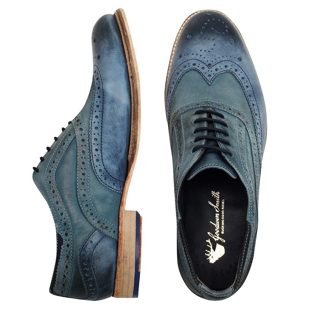 Goodwin Smith Footwear UK 6 / EU 39 / US 7 / Blue / Leather Harwood Navy Petrol