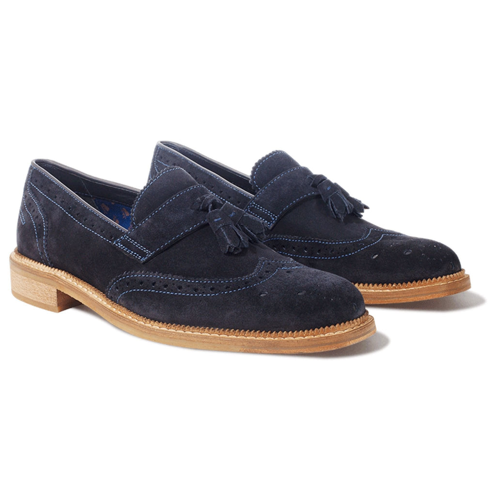 Goodwin Smith Footwear UK 6 / EU 39 / US 7 / Blue / Suede Irwell Navy Suede Loafers