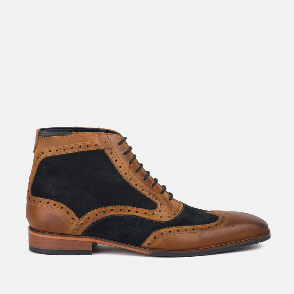 Goodwin Smith Footwear UK 6 / EU 39 / US 7 / Navy & Tan / Leather & Suede KIRKSTON NAVY & TAN