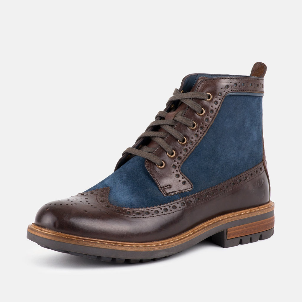Goodwin Smith Footwear UK 6 / EU 39 / US 7 / Brown/Navy / Leather MARSHALL BROWN & NAVY