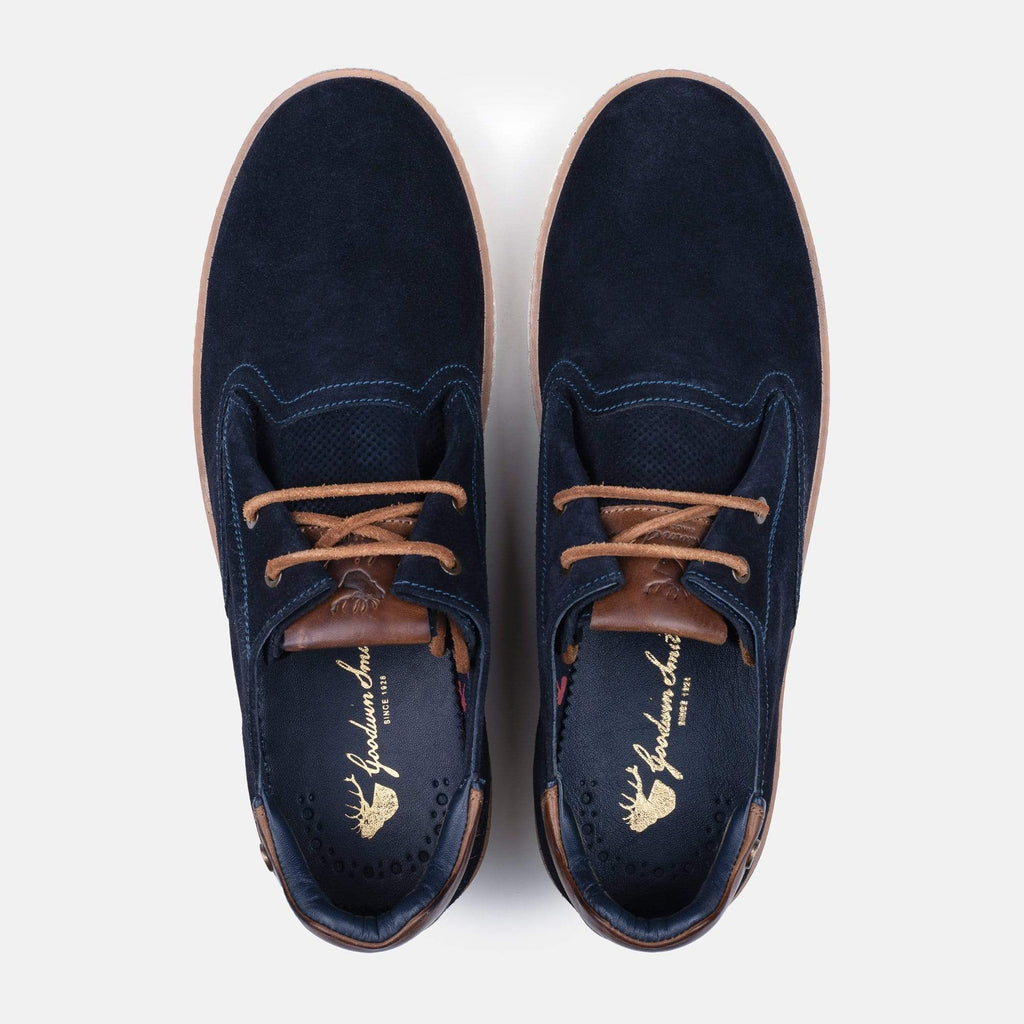 Goodwin Smith Footwear MENS SANTIAGO NAVY SUEDE PLIMSOLL