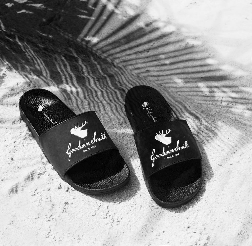 Goodwin Smith Footwear S / UK 6-7 / Black / Rubber MIAMI SLIDERS