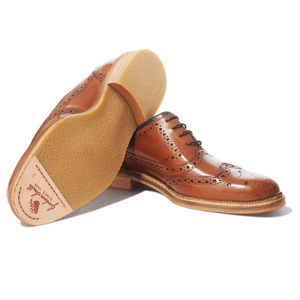 Goodwin Smith Footwear UK 6 / EU 39 / US 7 / Tan / Leather Newchurch Tan Brogue
