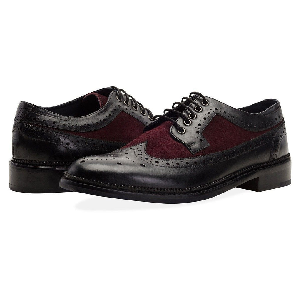Goodwin Smith Footwear UK 6 / EU 39 / US 7 / Black / Leather Pendle Black and Bordo