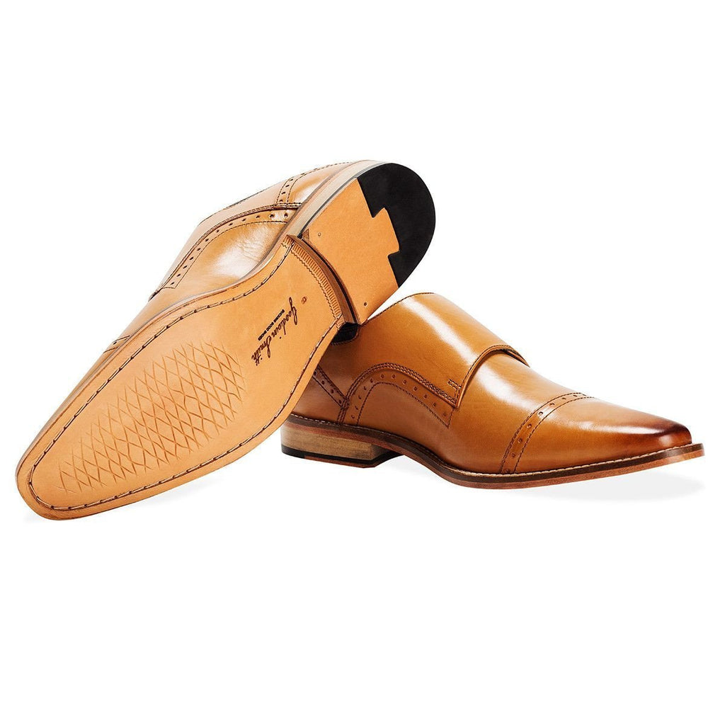 Goodwin Smith Footwear UK 6 / EU 39 / US 7 / Tan / Leather Tunstead Tan Monk-Strap
