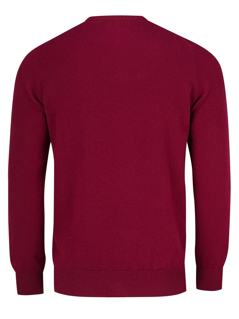 Goodwin Smith Jumper Small / Bordeau / Lambswool Harry Round Bordeaux
