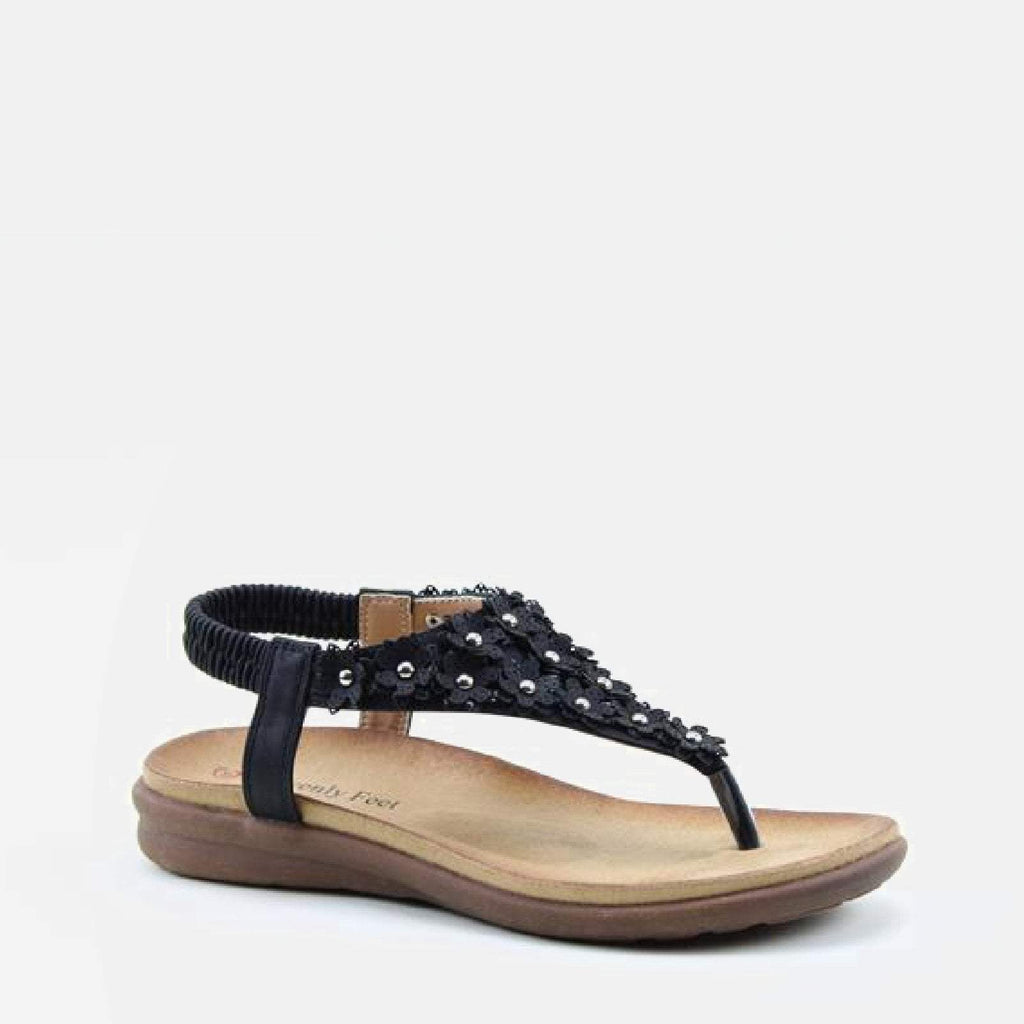 Heavenly Feet Footwear EU 36 / Black Anna Black