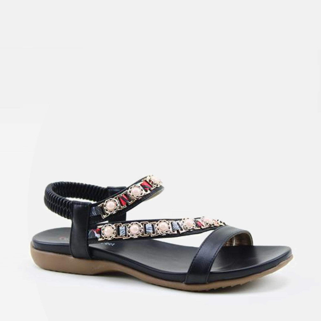 Heavenly Feet Footwear EU 36 / Black Pearle Black