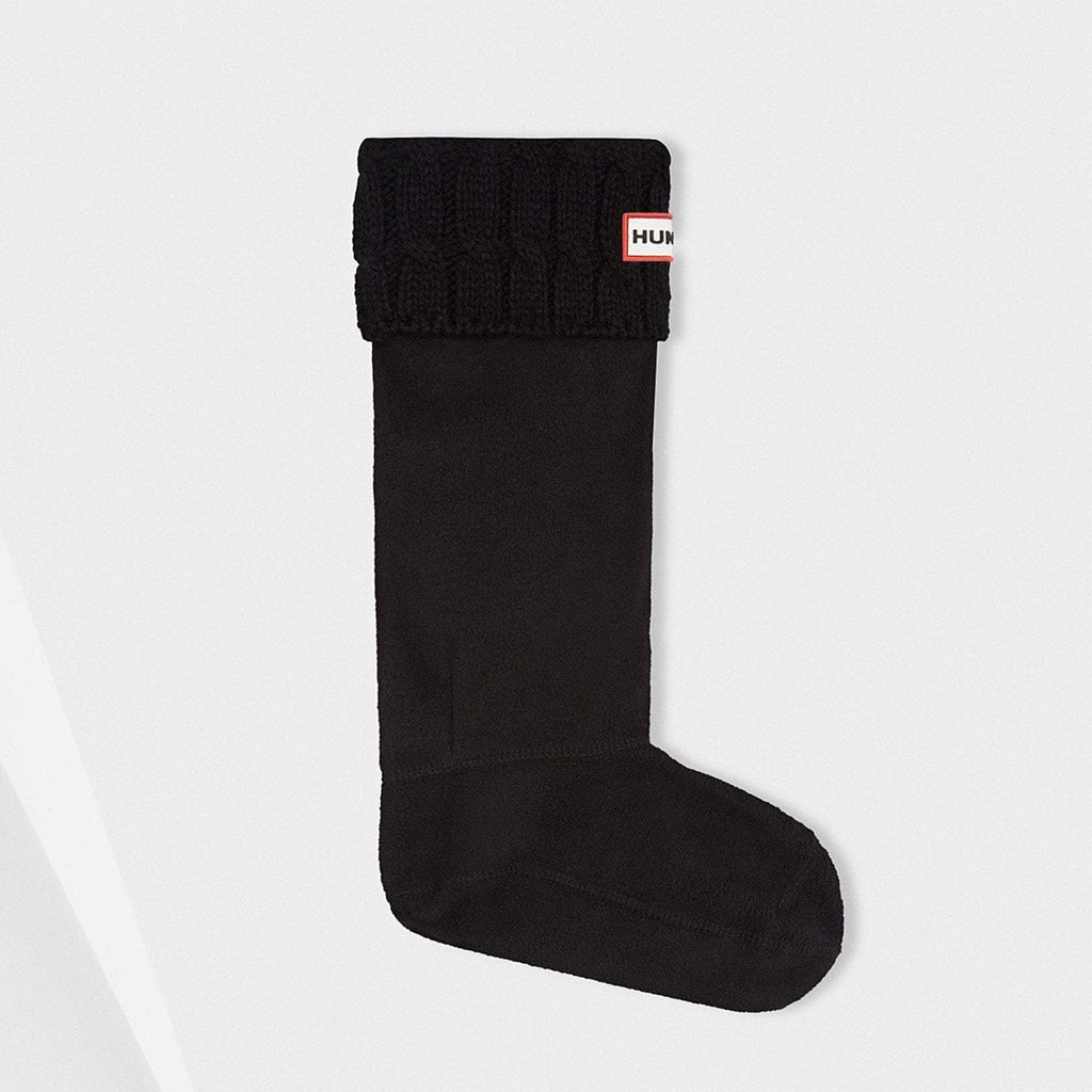 Hunter Accessories M / Black Original Six-Stitch Cable Tall Boot Socks Black