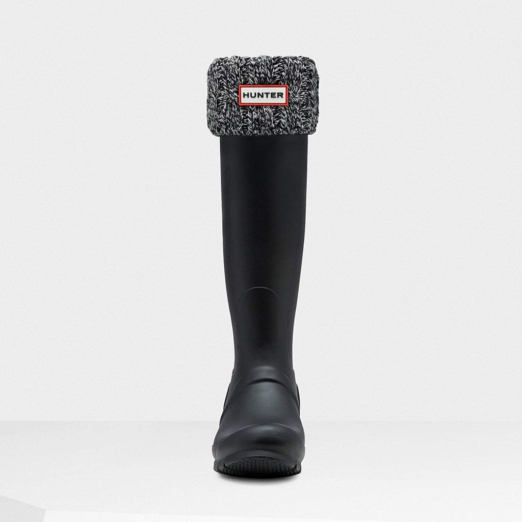 Hunter Accessories M / Black/Grey Original Six-Stitch Cable Tall Boot Socks Black/Grey