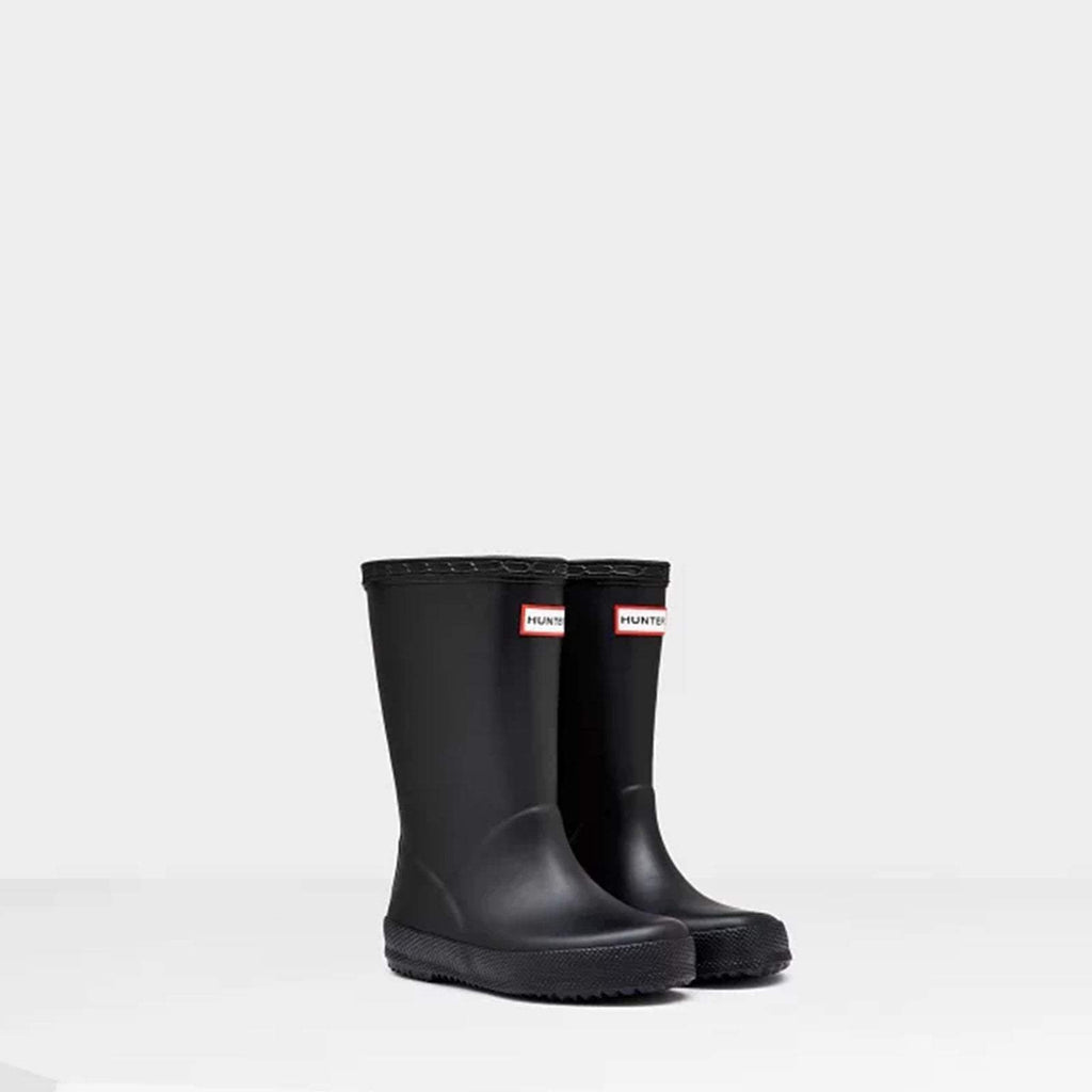 Hunter Footwear CHILDS UK 4 / BLACK Original Kids First Classic Wellington Boots Black