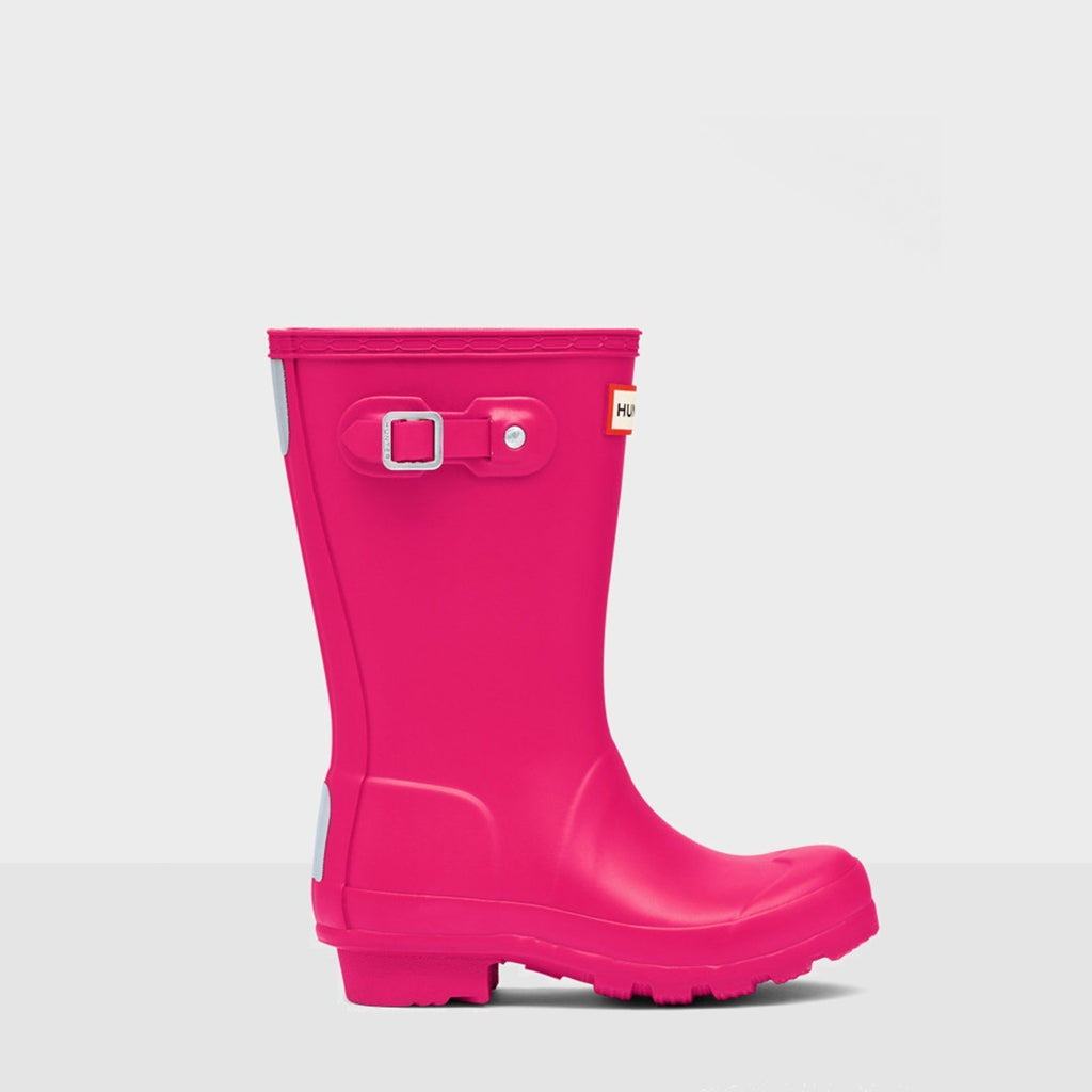 Hunter Footwear CHILDS UK 12 / BRIGHT PINK Original Kids Wellington Boots Bright Pink