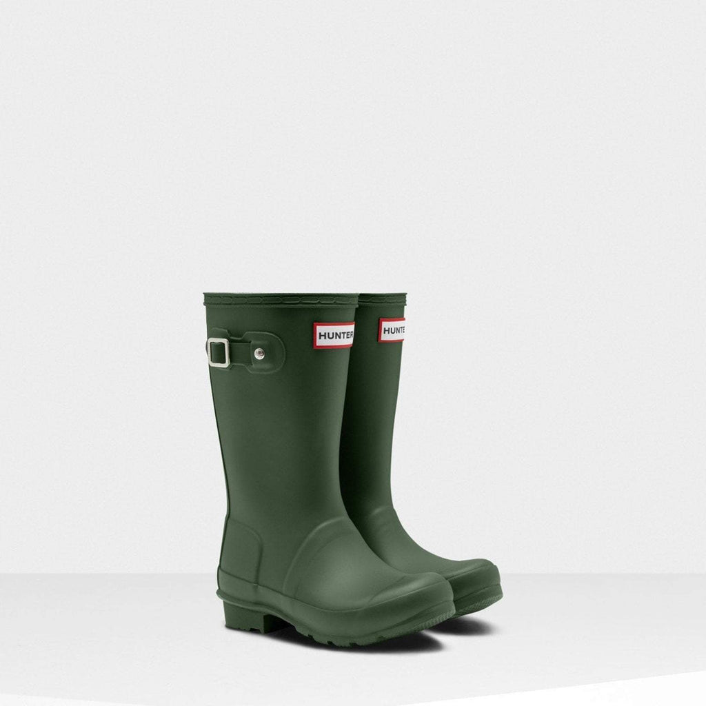 Hunter Footwear CHILDS UK 12 / HUNTER GREEN Original Kids Wellington Boots Hunter Green