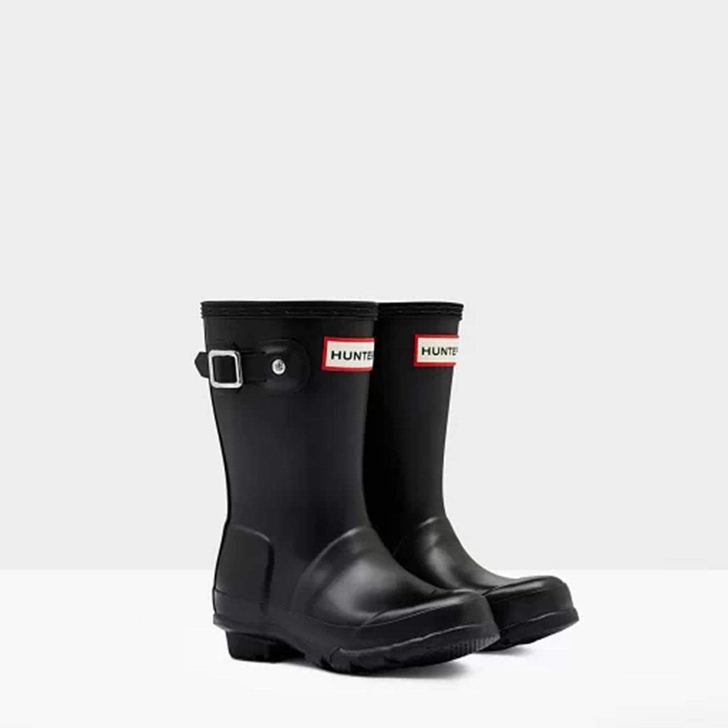 Hunter Footwear CHILDS UK 7 / BLACK Original Little Kids Wellington Boots Black